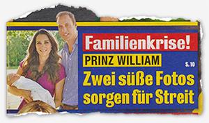 Familienkrise! - Prinz William - Zwei süße Fotos sorgen für Streit