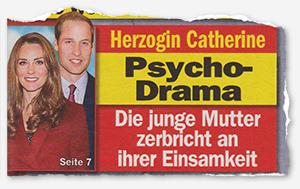 Herzogin Catherine - Psycho-Drama - Die junge Mutter zerbricht an ihrer Einsamkeit