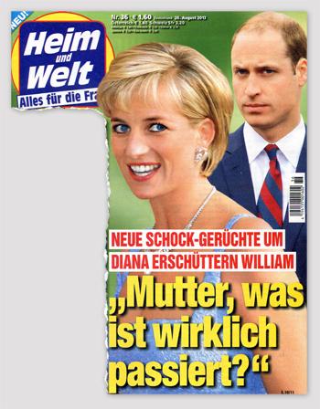 """Neue Schock-Gerüchte um Diana erschüttern William - """"Mutter, was ist wirklich passiert?"""""""
