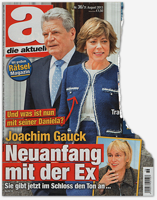 Und was ist nun mit seiner Daniela? - Joachim Gauck - Neuanfang mit der Ex - Sie gibt im Schloss den Ton an
