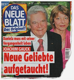 Daniela muss mit seiner Vergangenheit leben - Joachim Gauck - Neue Geliebte aufgetaucht