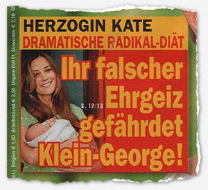 Herzogin Kate - Dramatische Radikal-Diät - Ihr falscher Ehrgeiz gefährdet Klein-George!