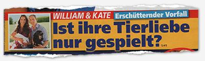 William & Kate - Erschütternder Vorfall - Ist ihre Tierliebe nur gespielt?