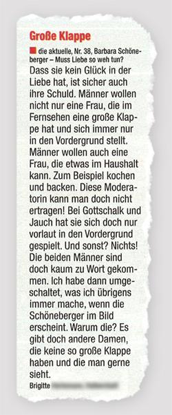 Große Klappe - Barbara Schöneberger