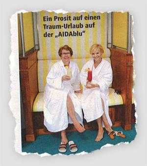 """Ein Prosit auf einen Traum-Urlaub auf der """"AIDAblu"""""""