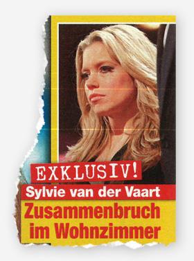 Exklusiv! Sylvie van der Vaart - Zusammenbruch im Wohnzimmer