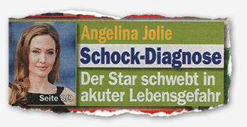 Angelina Jolie - Schock-Diagnose - Der Star schwebt in akuter Lebensgefahr