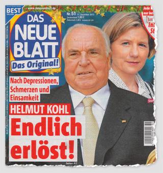 Nach Depressionen, Schmerzen und Einsamkeit - Helmut Kohl - Endlich erlöst!