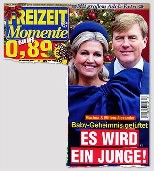 Maxima & Willem-Alexander - Baby-Geheimnis gelüftet - Es wird ein Junge!