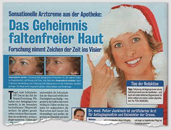 Sensationelle Arztcreme aus der Apotheke: Das Geheimnis faltenfreier Haut - Forschung nimmt Zeichen der Zeit ins Visier