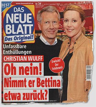 Unfassbare Enthüllungen - Christian Wulff - Oh nein! - Nimmt er Bettina etwa zurück?