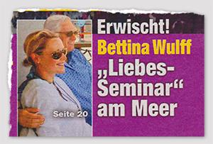 """Erwischt! Bettina Wulff - """"Liebes-Seminar"""" am Meer"""