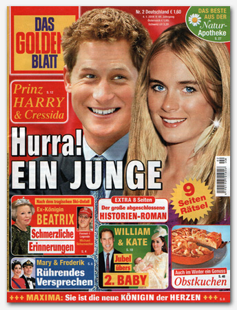 Prinz Harry & Cressida - Hurra! Ein Junge