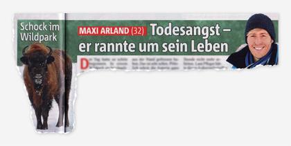 Schock im Wildpark - Maxi Arland (32) - Rodesangst - er rannte um sein Leben