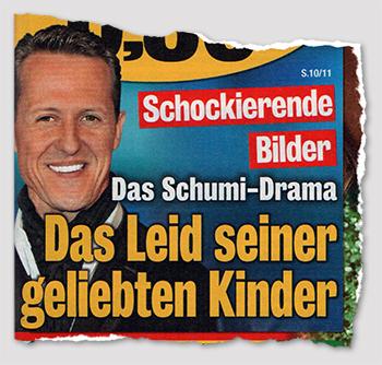 Schockierende Bilder - Das Schumi-Drama - Das Leid seiner geliebten Kinder