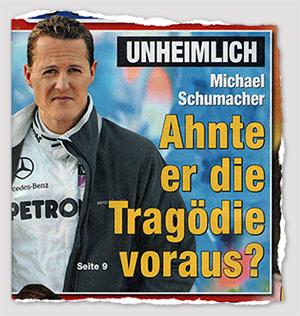 Unheimlich - Michael Schumacher - Ahnte er die Tragödie voraus?