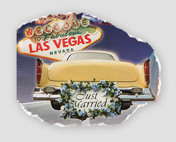 Welcome to fabulous Las Vegas, Nevada - Just Married