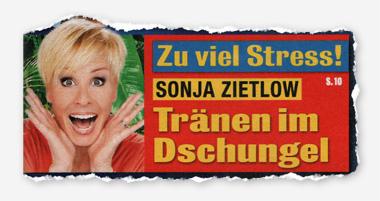 Zu viel Stress! Sonja Zietlow - Tränen im Dschungel