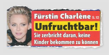 Fürstin Charlène - Unfruchtbar! Sie zerbricht daran, keine Kinder bekommen zu können