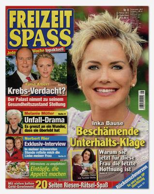 """Gesamtes Cover der """"Freizeit Spass"""" Nr. 8/2014"""