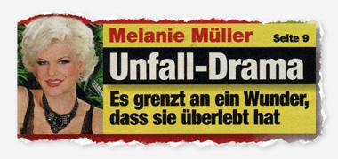 Melanie Müller - Unfall-Drama - Es grenzt an ein Wunder, dass sie überlebt hat