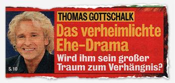 Thomas Gottschalk - Das verheimlichte Ehe-Drama - Wird ihm sein großer Traum zum Verhängnis?
