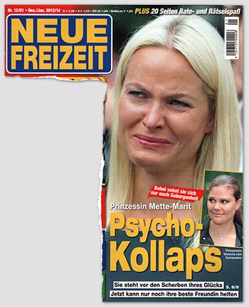 Dabei sehnt sie sich nur nach Geborgenheit - Prinzessin Mette-Marit - Psycho-Kollaps - Sie steht vor den Scherben ihres Glücks - Jetzt kann nur noch ihre beste Freundin helfen [Anm.: Auf dem Foto weint Mette-Marit.]