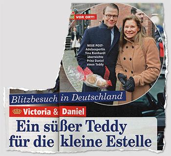 Blitzbesuch in Deutschland - Victoria & Daniel - Ein süßer Teddy für die kleine Estelle
