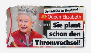 Sensation in England - Queen Elizabeth - Sie plant schon den Thronwechsel!