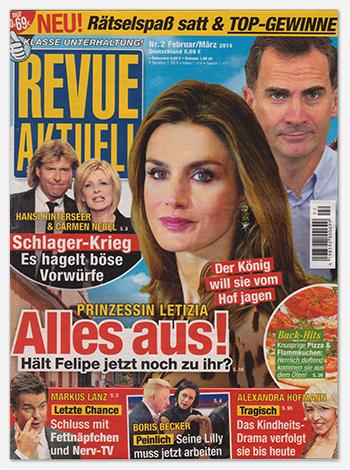 "Titelseite: ""Revue aktuell"", Nr. 2/2014"