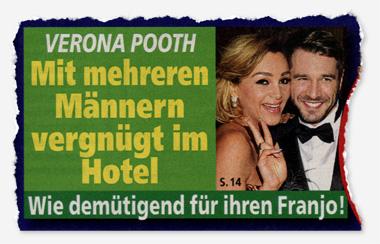 Verona Pooth - Mit mehreren Männern vergnügt im Hotel - Wie demütigend für ihren Franjo!