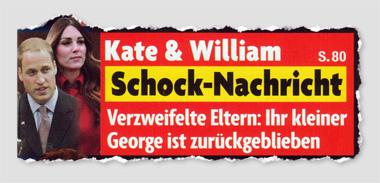 Kate & William - Schock-Nachricht - Verzweifelte Eltern: Ihr kleiner George ist zurückgeblieben