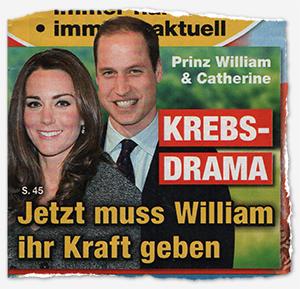 Prinz William & Catherine - KREBS-DRAMA - Jetzt muss William ihr Kraft geben