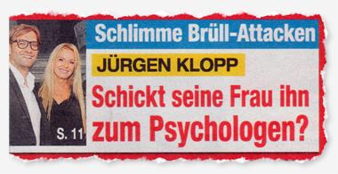 Schlimme Brüll-Attacken - Jürgen Klopp - Schickt seine Frau ihn zum Psychologen?
