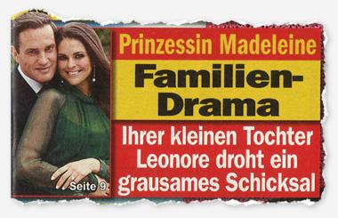 Prinzessin Madeleine - Familien-Drama - Ihrer kleinen Tochter Leonore droht ein grausames Schicksal