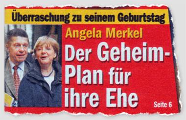 Überraschung zu seinem Geburtstag - Angela Merkel - Der Geheim-Plan für ihre Ehe