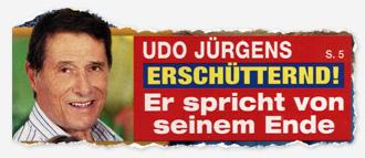 Udo Jürgens - Erschütternd! Er spricht von seinem Ende