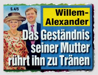 Willem-Alexander - Das Geständnis seiner Mutter rührt ihn zu Tränen