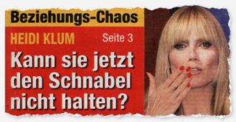 Beziehungs-Chaos - Heidi Klum - Kann sie jetzt den Schnabel nicht halten?