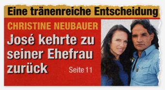 Einr tränenreiche Entscheidung - Christine Neubauer - José kehrte zu seiner Ehefrau zurück