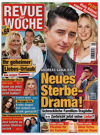 """Titelseite: """"Revue der Woche"""", Nr. 4-5/2014"""