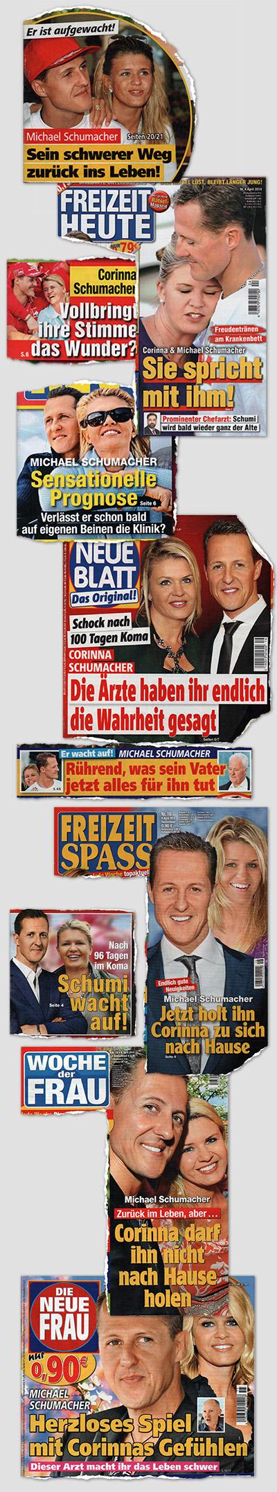 Michael Schumacher in der Regenbogenpresse