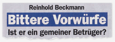 Reinhold Beckmann - Bittere Vorwürfe - Ist er ein gemeiner Betrüger?
