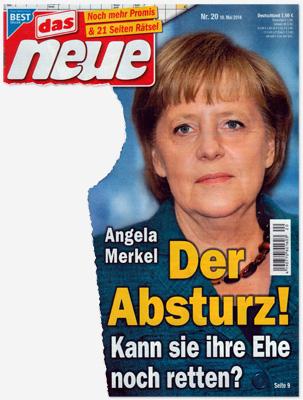 Angela Merkel - Der Absturz! Kann sie ihre Ehe noch retten?
