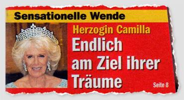 Sensationelle Wnde - Herzogin Camilla - Endlich am Ziel ihrer Träume