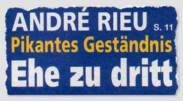 André Rieu - Pikantes Geständnis - Ehe zu dritt