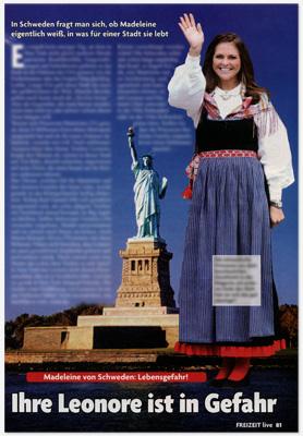 Ausriss der kompletten Seite mit der Geschichte zu Madeleine von Schweden