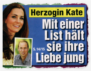 Herzogin Kate - Mit einer List hält sie ihre LIebe jung