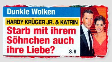 Dunkle Wolken - Hardy Krüger Jr. & Katrin - Starb mit ihrem Söhnchen auch ihre Liebe?