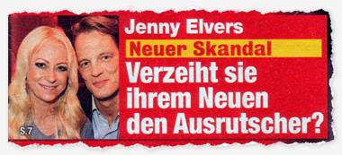 Jenny Elvers - Neuer Skandal - Verzeiht sie ihrem Neuen den Ausrutscher?
